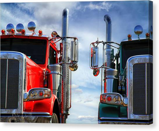 Ford Truck Canvas Print - Big Trucks by Bob Orsillo