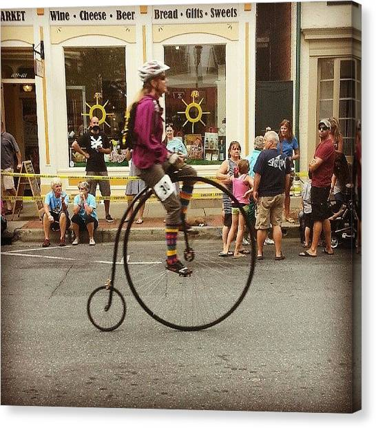 Quirky Canvas Print - Big Wheels Go Fast #bike #frederick by Rebecca Shoemaker