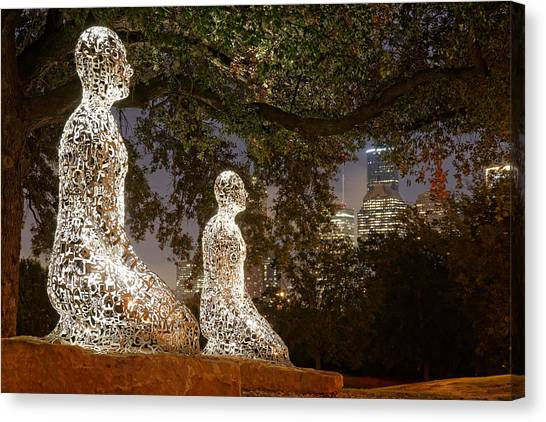 Houston Rockets Canvas Print - Bigger Than The Sum Of Our Parts - Tolerance Sculptures Downtown Houston Texas by Silvio Ligutti