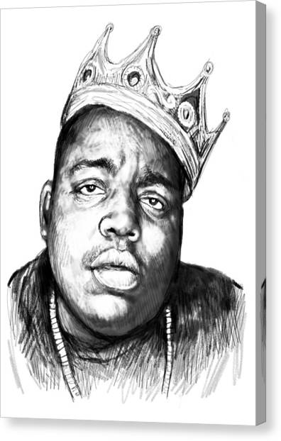 Biggie Smalls Crown Black And White