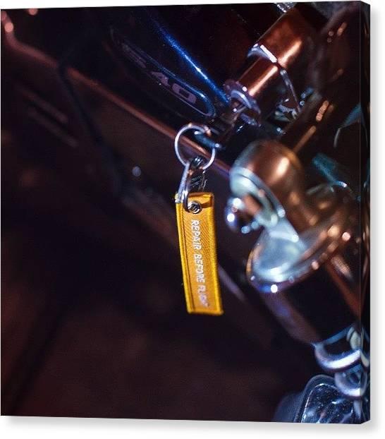 Suzuki Canvas Print - #bike #motorcycle #repair #suzuki #s40 by Mikhail Nesterov
