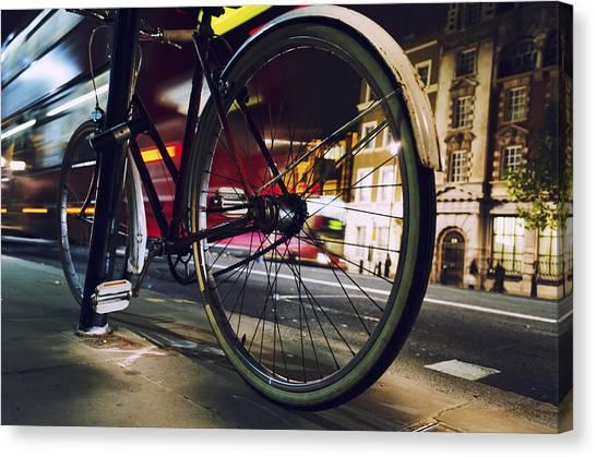 Bike On Whitehall  Canvas Print