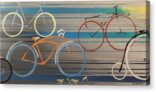 Bike Path I Canvas Print by Vivian Mora