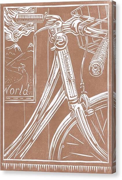 Bike Shop Window Canvas Print by Jennifer Harper
