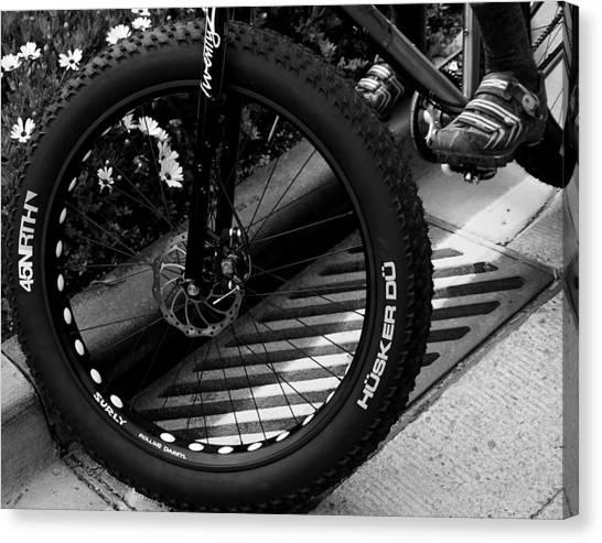 Bike Tire Canvas Print