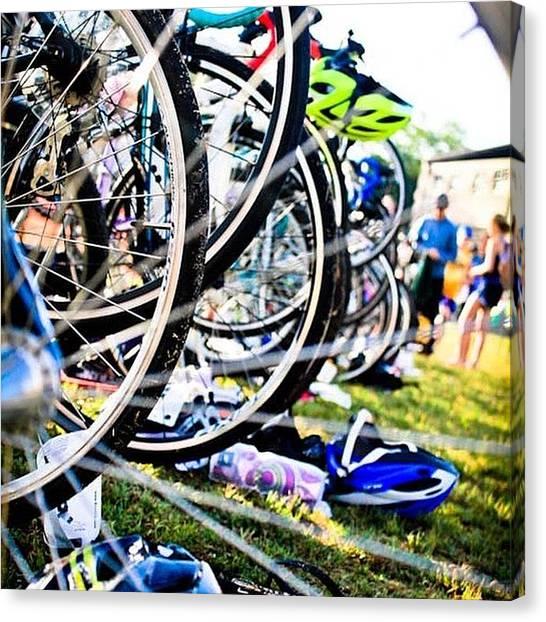 Texas Rangers Canvas Print - Bike Tires | Tsd Ranger Triathlon | by Christy LaSalle