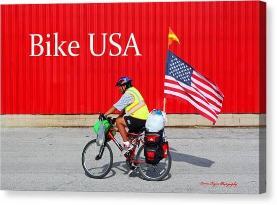Bike Usa Canvas Print