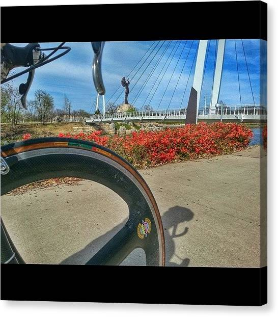 Keeper Canvas Print - #bike_ride #bike_it #kansasphotos by Brian Duram