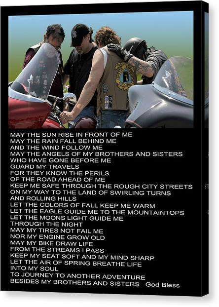 Bikers Prayer Canvas Print by Joe Oliver