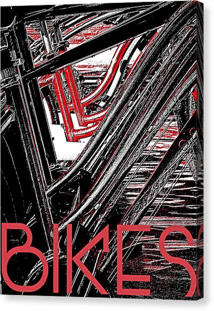 Bikes Poster -- A Canvas Print by Brian D Meredith