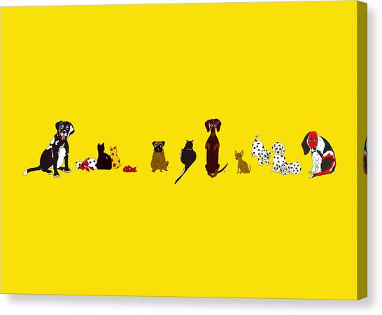 Bill And Friends Canvas Print