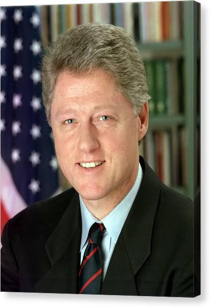 Bill Clinton Canvas Print - Bill Clinton by Georgia Fowler