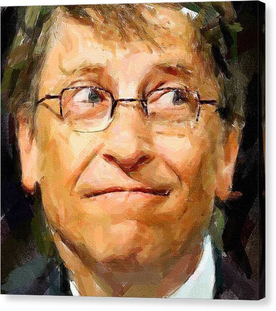 Indoors Canvas Print - Bill Gates by Yury Malkov