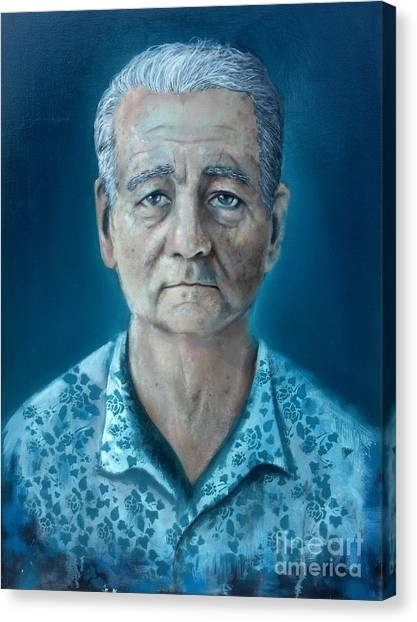 Zombieland Canvas Print - Bill Murray  by Michael Parsons