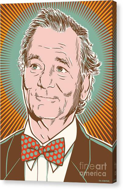 Groundhogs Canvas Print - Bill Murray Pop Art by Jim Zahniser