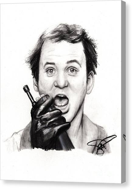 Ghostbusters Canvas Print - Bill Murray by Rosalinda Markle
