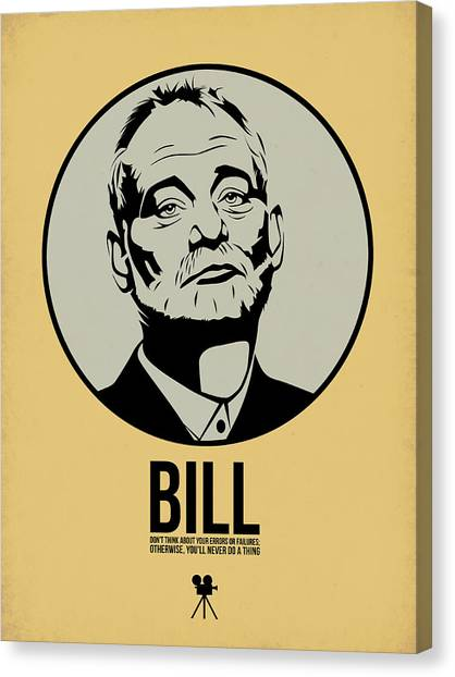 Tv Shows Canvas Print - Bill Poster 1 by Naxart Studio