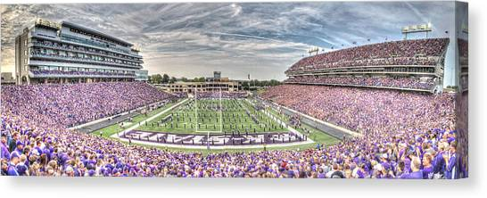 Kansas State University K-state Canvas Print - Bill Snyder Family Stadium Panorama by Corey Cassaw