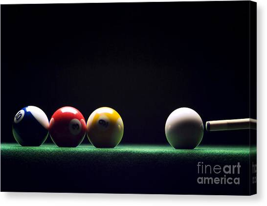Billiard Canvas Print