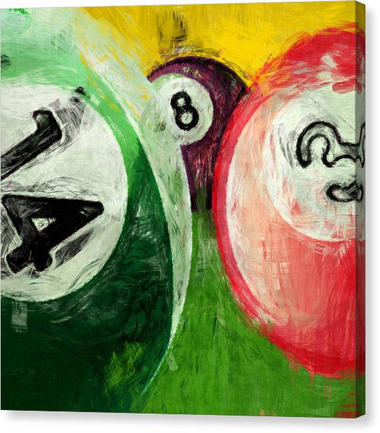3.14 Canvas Print - Billiards 14 3 8  by David G Paul