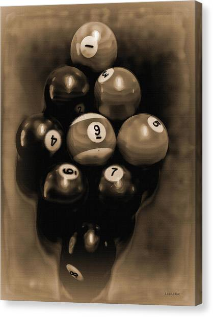 Billiards Art - Your Break - Bw Opal Canvas Print
