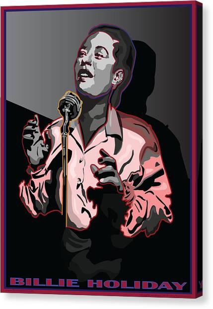 Billie Holiday Jazz Singer Canvas Print by Larry Butterworth