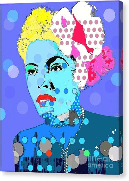 Billie Holiday Canvas Print by Ricky Sencion