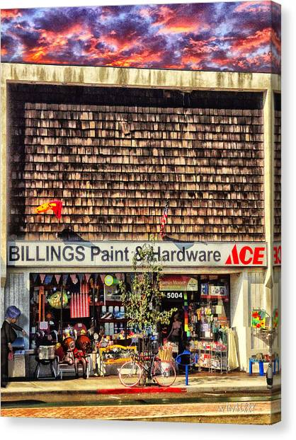 Billings Hardware Canvas Print by Bob Winberry
