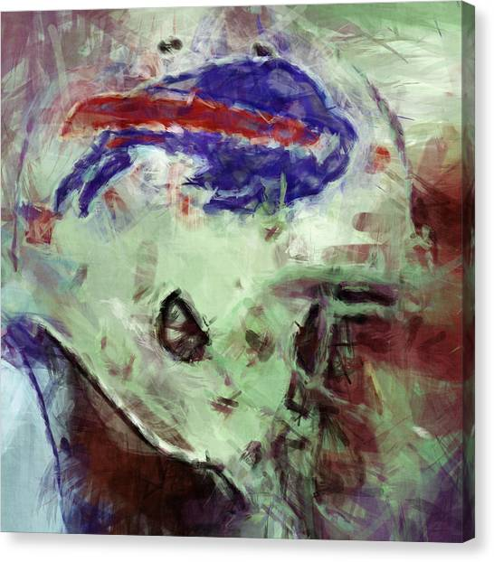 Gridiron Canvas Print - Bills Art by David G Paul