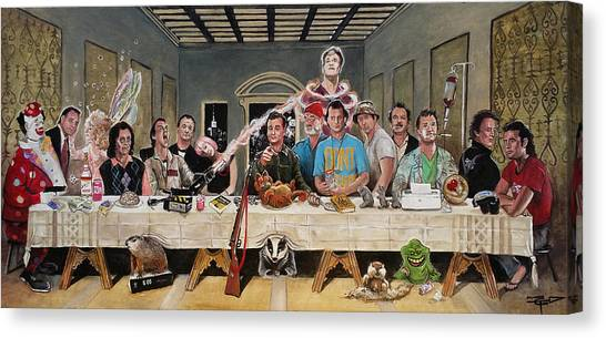 Zombieland Canvas Print - Bills Last Supper by Tom Carlton
