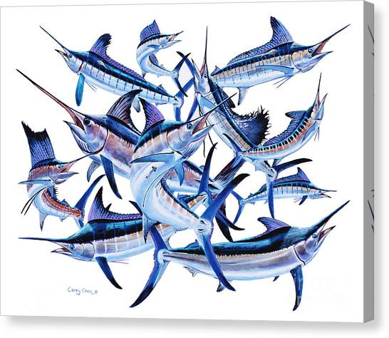 Spearfishing Canvas Print - Bills Off0044 by Carey Chen