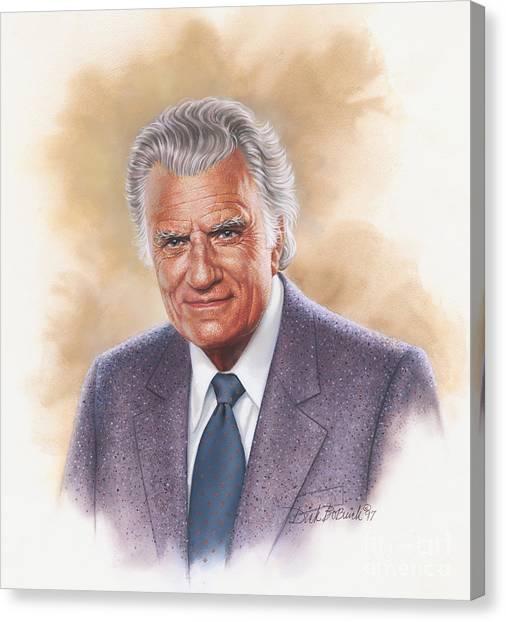 Billy Graham Evangelist Canvas Print