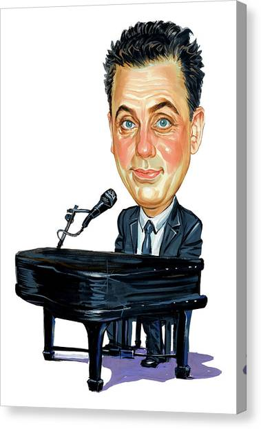 Caricatures Canvas Print - Billy Joel by Art