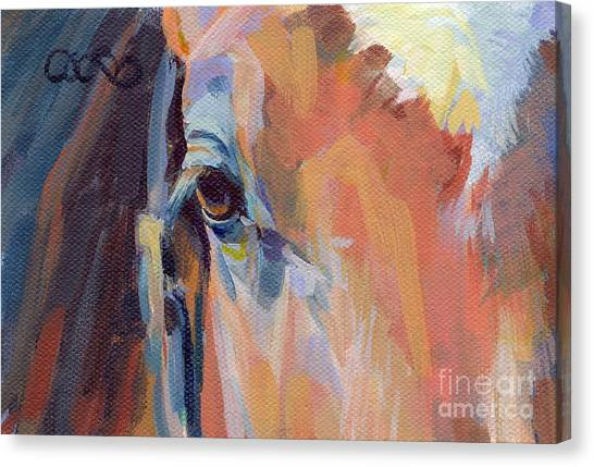Thoroughbreds Canvas Print - Billy by Kimberly Santini