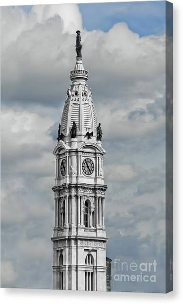 Billy Penn In The Clouds Canvas Print by Stacey Granger
