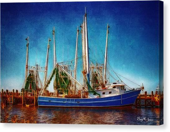 Biloxi Boat Docks Canvas Print