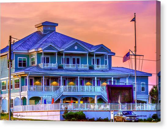Architecture - Biloxi Yacth Club Canvas Print by Barry Jones
