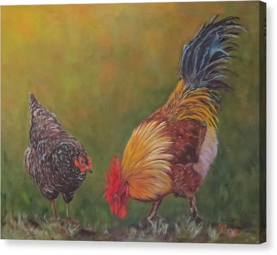 Biltmore Chickens  Canvas Print