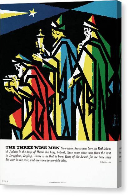 Binders Canvas Print - Binder Three Wise Men, 1962 by Granger