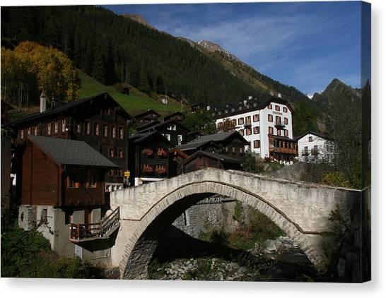 Landscape Travelpics Canvas Print - Binn by Travel Pics