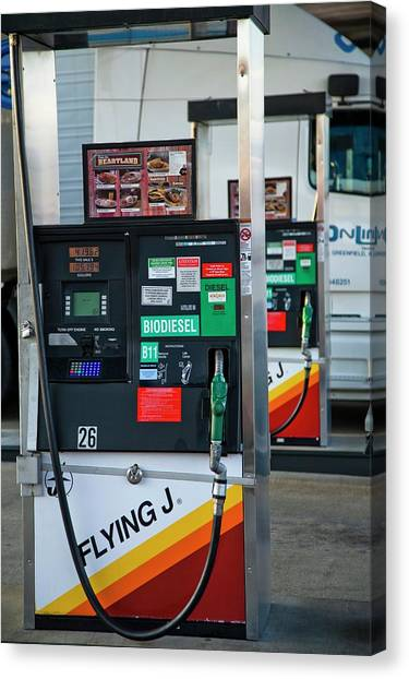 Controversial Canvas Print - Biodiesel Fuel Pump by Peter Menzel/science Photo Library