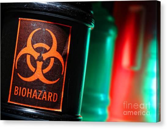 Biohazard Canvas Print - Biohazard by Olivier Le Queinec
