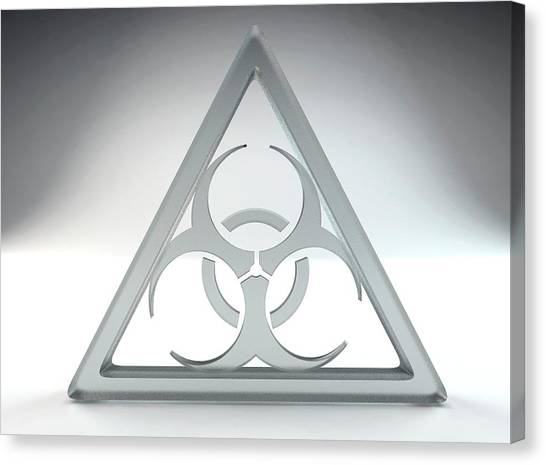 Biohazard Canvas Print - Biohazard Sign by Tim Vernon
