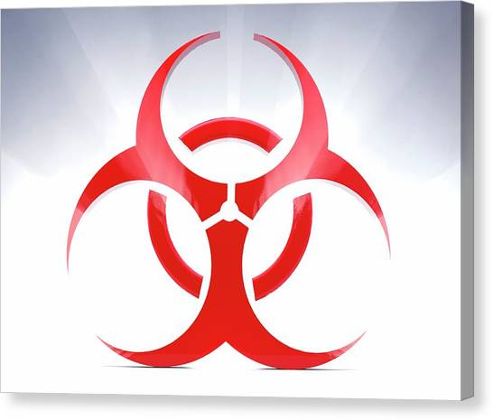 Biohazard Canvas Print - Biohazard Symbol by Tim Vernon