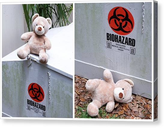 Care Bears Canvas Print - Biohazard Warning by William Patrick