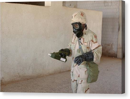 Improve Canvas Print - Biological Weapon Screening by Hhc 4th Infantry Division
