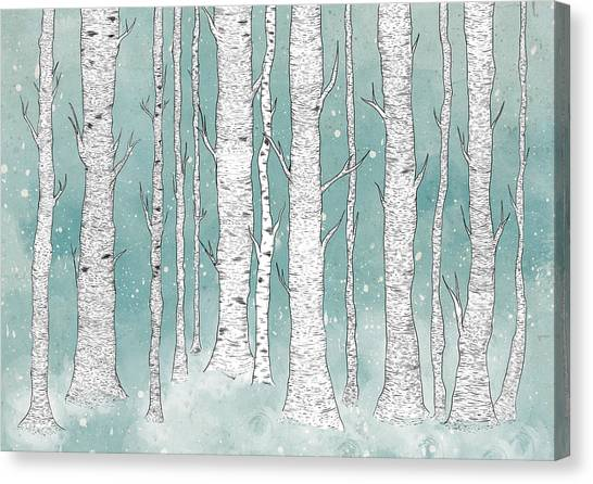 Trees Canvas Print - Birch Forest by Randoms Print