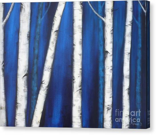 Birch Trees-3a Canvas Print