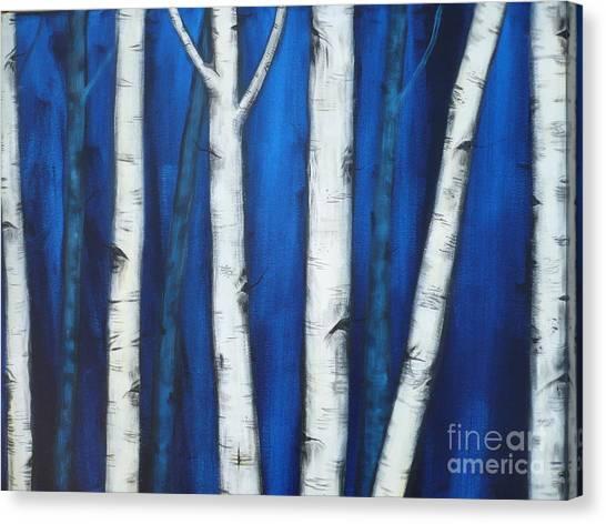 Birch Trees-3b Canvas Print