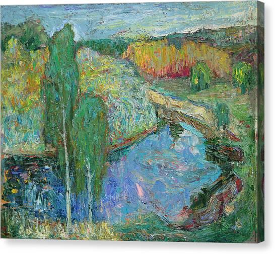 Birches Canvas Print by Evgen Bondarevskiy